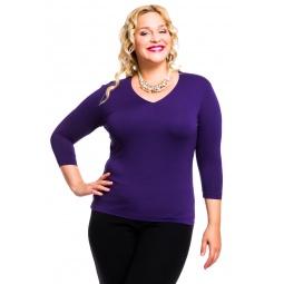 фото Кофта Mondigo XL 052. Цвет: темно-фиолетовый. Размер одежды: 52