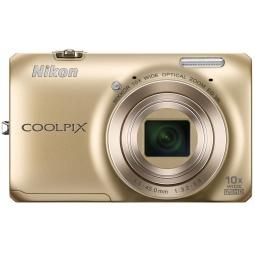 фото Фотокамера цифровая Nikon CoolPix S6300. Цвет: золотистый