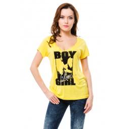 фото Футболка Mondigo 9931. Цвет: желтый. Размер одежды: 42