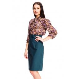 фото Платье Mondigo 5131-3. Цвет: коричневый. Размер одежды: 46