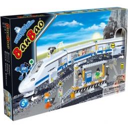 фото Конструктор Banbao Скоростной поезд на радио управлении, 662 детали