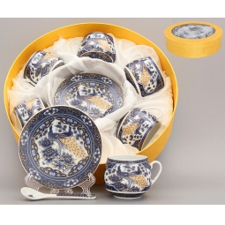 Купить Кофейный набор Elan Gallery «Павлин синий»