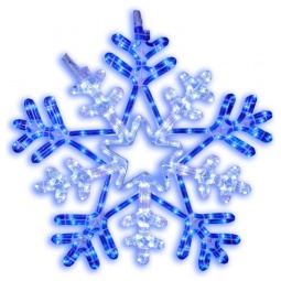 фото Подвес декоративный Star Trading Snowflake. Диаметр: 50 см. Цвет: белый, синий