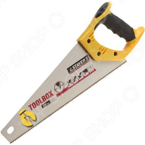 Ножовка по дереву Stayer Master Toolbox 2-15091-45Лобзики. Ножовки. Пилы<br>Ножовка по дереву Stayer Master Toolbox 2-15091-45 применяется для распиливания бревен, досок и других деревянных заготовок из не очень твердых материалов. Такой инструмент будет незаменимым на приусадебном или дачном участке, в мастерской и просто в быту. С помощью этой ножовки можно выполнять как поперечное, так и продольное пиление.<br>