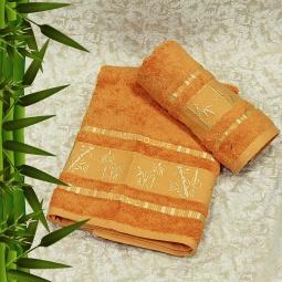 фото Полотенце махровое Mariposa Tropics orange. Размер полотенца: 50х90 см