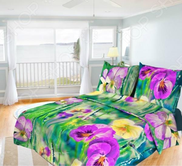 Комплект постельного белья Олеся «Фиалки». 1,5-спальный
