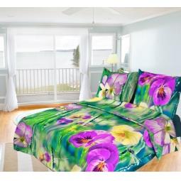 фото Комплект постельного белья Олеся «Фиалки». 1,5-спальный