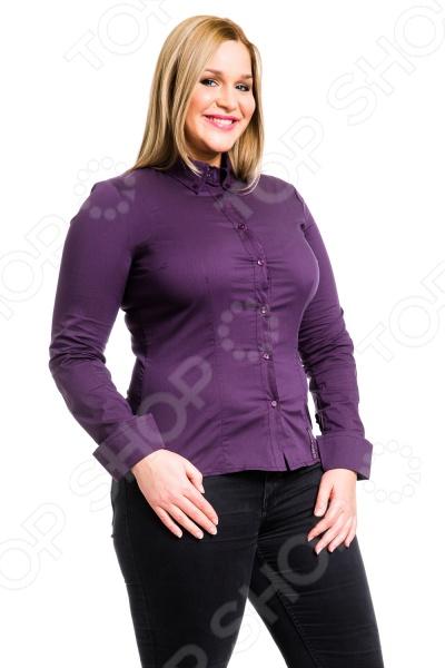 Рубашка Mondigo XL 9604. Цвет: баклажановый