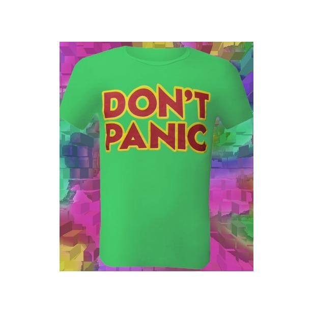 фото Футболка мужская Dodogood Don't panic. Цвет: зеленый. Размер одежды: 44
