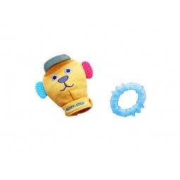 фото Игрушка-рукавичка с прорезывателями Roxy-Kids «Вуффи». Цвет: голубой