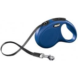 фото Поводок-рулетка Flexi New Classic M-L. Цвет: синий