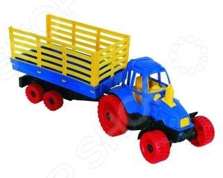 Машинка игрушечная Нордпласт «Трактор с прицепом» машинки brio трактор с бревнами на магн и прицепом 22х4х13см блист