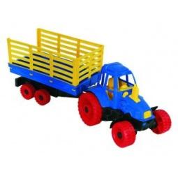 фото Машинка игрушечная Нордпласт «Трактор с прицепом»