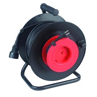 Купить Удлинитель силовой на катушке из пластика Эра RP-1-2x0.75