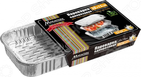 Пароварка одноразовая Marmiton 17046Кухонная мелочь<br>Пароварка одноразовая Marmiton 17046 это одноразовая посуда для запекания на пару. С помощью нескольких контейнеров вы сможете сделать функциональную пароварку для приготовления мяса и овощей. Особенно полезно готовить на пару для детей и аллергиков.<br>