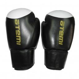 фото Перчатки боксерские ATEMI LTB19009. Цвет: белый, черный. Вес в унциях: 12. Рисунок: нет