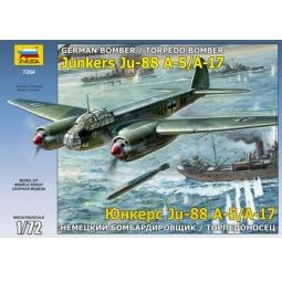 фото Сборная модель Звезда «Немецкий бомбардировщик/торпедоносец Ju-88 А-17/А-5»