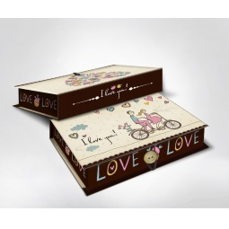 фото Шкатулка-коробка подарочная Феникс-Презент «Любовь». Размер: L (22х16 см). Высота: 7 см