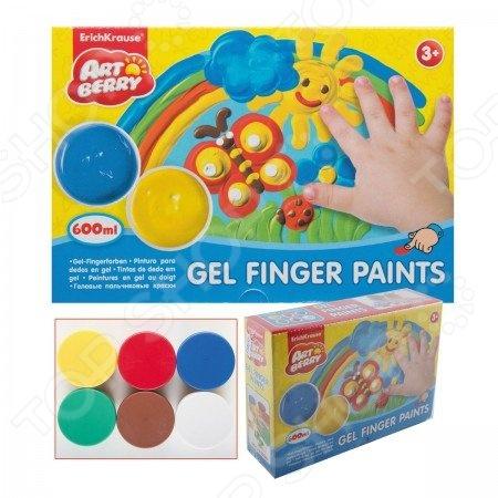 Краски пальчиковые большие Erich Krause Artberry: 6 цветов