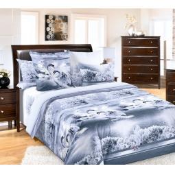 фото Комплект постельного белья Королевское Искушение «Лебединое озеро». 2-спальный. Размер простыни: 220х240 см