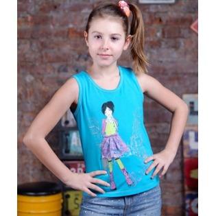 Купить Майка для девочек Detiland SS15-UBL-GTP-951. Цвет: бирюзовый