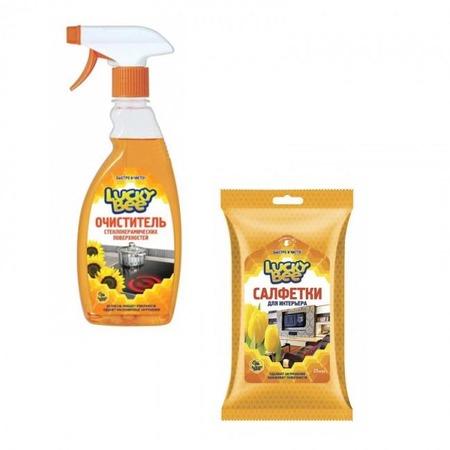 Купить Набор для уборки Lucky Bee очиститель поверхностей LB 7500 и салфетки для интерьера LB 7303