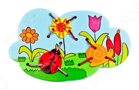 Игра развивающая для малыша Mapacha «Шнуровка. Божья коровка» бра mantra bora bora c0103