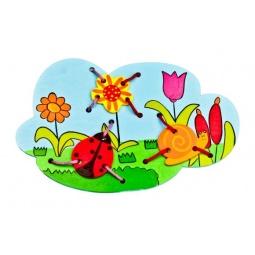фото Игра развивающая для малыша Mapacha «Шнуровка. Божья коровка»