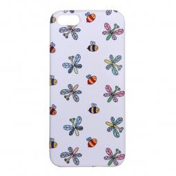 фото Чехол для iPhone 5 Mitya Veselkov «Стрекозы и пчелки». Цвет: белый