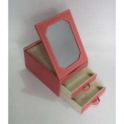 фото Шкатулка для украшений Феникс-Презент. Размер: 15,5х11,5 см. Цвет: розовый