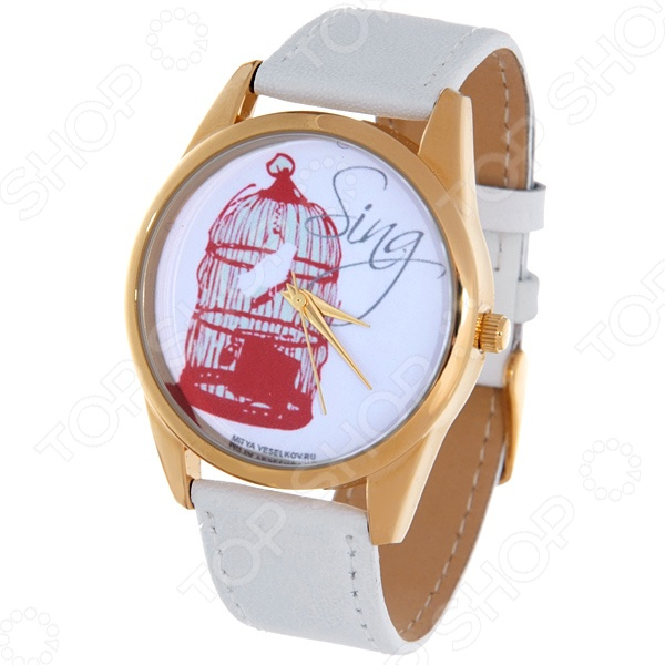 Часы наручные Mitya Veselkov «Птичка в клетке» Shine часы наручные mitya veselkov часы mitya veselkov камасутра силуэт на белом арт shine 20