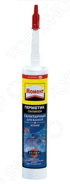 Клей-герметик для ванной и кухни Момент «Санитарный». Объем: 280 мл