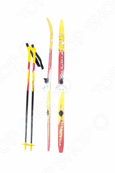 Комплект лыжный с палками и креплениями Karjala Snowstar цикл лыжи детские вираж спорт с палками цикл