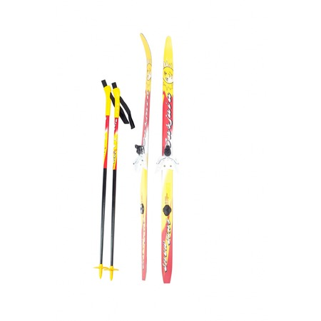Купить Комплект лыжный с палками и креплениями Karjala Snowstar