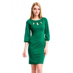 фото Платье Mondigo 5196. Цвет: темно-зеленый. Размер одежды: 44