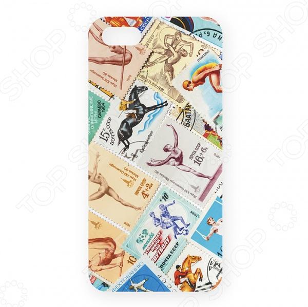 Чехол для iPhone 5 Mitya Veselkov «Спорт. Марки» чехол для iphone 5 mitya veselkov попугаи