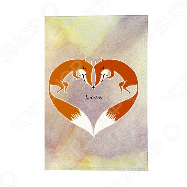 Обложка для автодокументов Mitya Veselkov «Влюбленные лисички»
