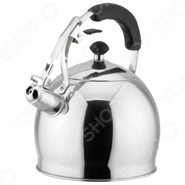 Чайник со свистком Bekker BK-S451Чайники со свистком и без свистка<br>Чайник Bekker BK-S451 оборудован свистком для определения закипания воды и изготовлен из высококачественной нержавеющей стали. Корпус из стали долговечен, не подвергается коррозии и обладает антиаллергенными свойствами. Фиксированная ручка модели очень удобна и не нагревается, т.к. частично покрыта силиконом. На ней находится механизм открытия носика-свистка. Широкое цельнометаллическое дно распределяет тепло равномерно по всей поверхности, что обеспечивает быструю скорость закипания воды и устойчивость изделия. Герметичная крышка не пропускает пар, поэтому вода долго остается горячей. Изящная форма чайника и отполированная поверхность корпуса придают ему эстетичности на столе.<br>