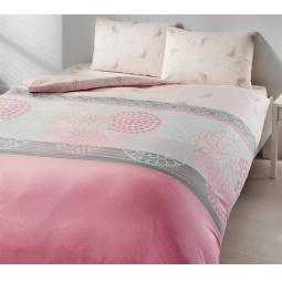 фото Комплект постельного белья TAC Emma. 1,5-спальный. Цвет: розовый