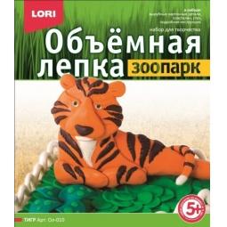 фото Лепка из пластилина объемная Lori «Тигр» Ол-010