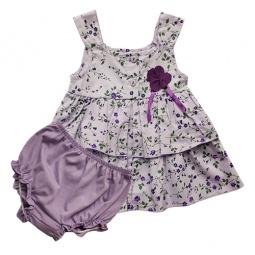 Купить Комплект: сарафан и трусики под памперс WWW Field flowers. Цвет: фиолетовый