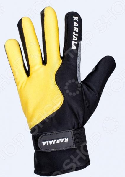 Перчатки для лыж Karjala P171569. Цвет: желтый, черный