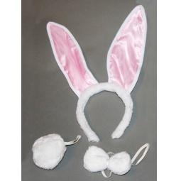 Купить Уши кролика с меховым хвостиком