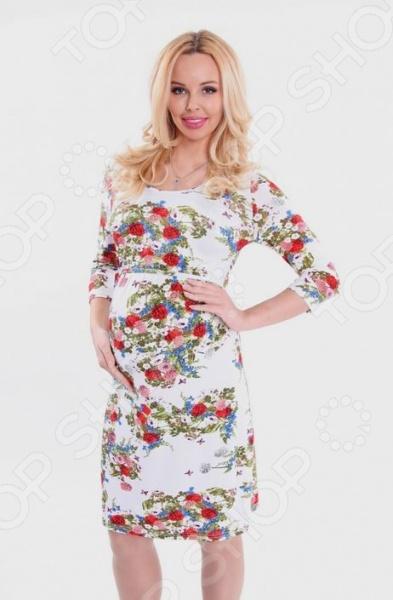 Платье для беременных Nuova Vita 2107.13. Цвет: молочный платье для беременных topshop 4 25
