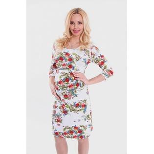 Купить Платье для беременных Nuova Vita 2107.13. Цвет: молочный