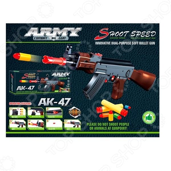 Оружие игрушечное Yako «2 в 1» Y4640123Другое игрушечное оружие<br>Оружие игрушечное Yako 2 в 1 Y4640123 оригинальный игрушечный автомат, который специально создан для активных детей, обожающих подвижные игры. Оружие выполнено из высококачественной пластмассы, которая не утяжеляет его. Оно удобно ложится в руку, и его можно использовать даже из положения лежа. Оружие стреляет специальными пластмассовыми патронами с резиновой пулей или поролоновыми патронами с присоской. Снаряды выполнены из мягкого и легкого материала, что исключает возможность случайных травм. При выстреле патрон вылетает целиком. В магазин заряжается 3 патрона. Взвод осуществляется отведением назад рычага сзади. Приклад отстёгивается. Оружие имеет впечатляющую дальность стрельбы пулями в 13 метров, а поролоновыми патронами 12 метров.<br>