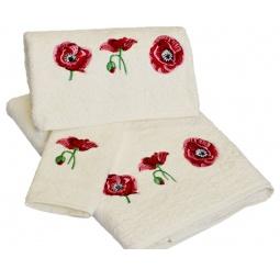 фото Комплект полотенец подарочный TAC Maki. Цвет: молочный
