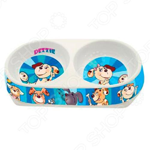 Миска для собак двойная DEZZIE «Стиль» гамма миска для кошек и собак n2