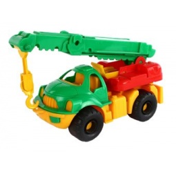 фото Машинка игрушечная Нордпласт «Автокран Малыш»