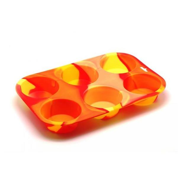 фото Форма для выпечки силиконовая Atlantis «Маффин» SC-BK-001M. Цвет: оранжевый
